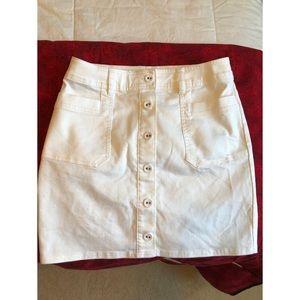 Prana white Button Skirt